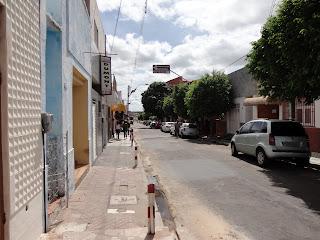 Trecho da Rua São José por onde passará o Roteiro da Fé.