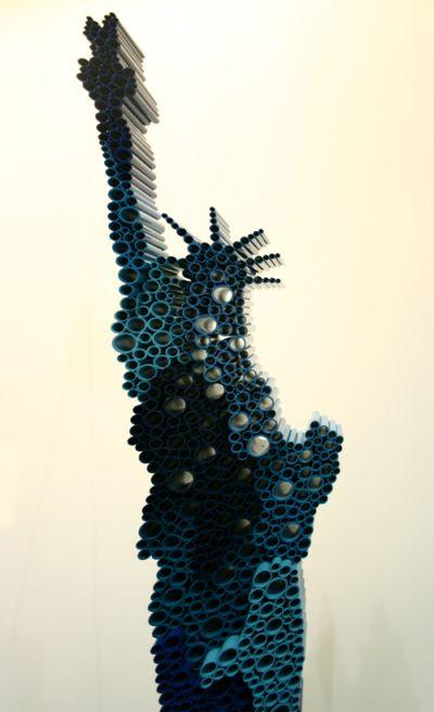 Kang Duck-Bong esculturas PVC cineticas movimento