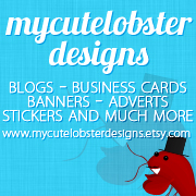 my cute lobster designs as new sponsor