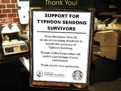 Donate to Sendong victims via Starbucks
