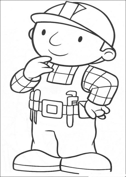 Fun Coloring Pages Bob The Builder Coloring Pages Bob The Builder Coloring Page