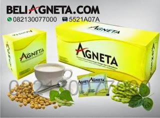 Apakah Agneta itu Pemutih ?     Agneta Soya Milk manfaatnya bagus untuk Kesehatan dan Kecantikan. Nah zat atau kandungan yang ada didalamnya bekerja semaksimal mungkin mengikat radikal bebas. Hasilnya selain sehat ternyata dapat mencerahkan kulit.     Nah kita harus hati - hati juga dengan produk pemutih yang beredar di luar sana yang bisa jadi itu ngga bagus buat tubuh kita. Agneta soya milk sudah tidak perlu diragukan lagi, selain sudah mendapatkan sertifikat yang GMP, Nano, ISo dll, Agneta juga sudah berbadab POM dan sudah mendapat sertifukat halal MUI. Jadi sudah sangat Aman untuk di Konsumsi.   Produk Agneta ada Susu Soya, dengan rasa Vanilla.   KOMPOSISI Unggulan didalam Agneta Soya Milk :   Beda yaa... soya di Agneta sudah mengalami proses teknologi nano yang memudahkan penyerapan ditubuh Soya mengandung berbagai zat senyawa anti aging ( menghambat penuaan dini)