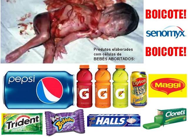 Tome nota e BOICOTE!!! Veja a lista de produtos que utilizam células de bebês abortados