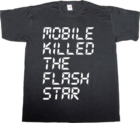 flash Flash Wars obsolete vintage retro defunct fun technology internet 2.0 html5 t-shirt ephemeral-t-shirts adobe