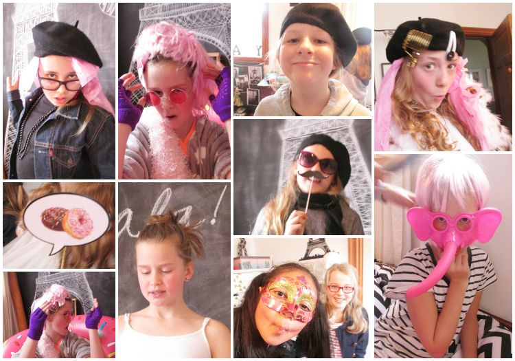 Paris Party photo booth selfies