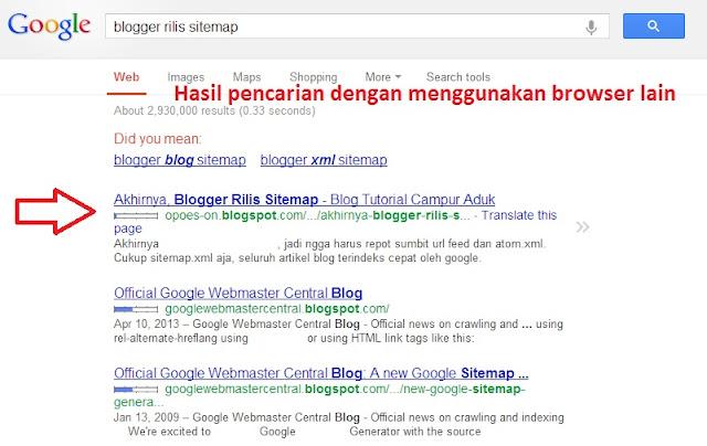 agar artikel cepat terindeks google dan berada di posisi pertama