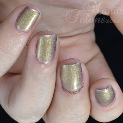 Madam Glam Gel Polish Metallic Nude Swatch