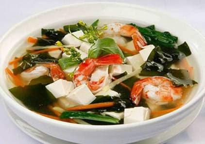 Cách làm món Canh rong biển nấu tôm ngon