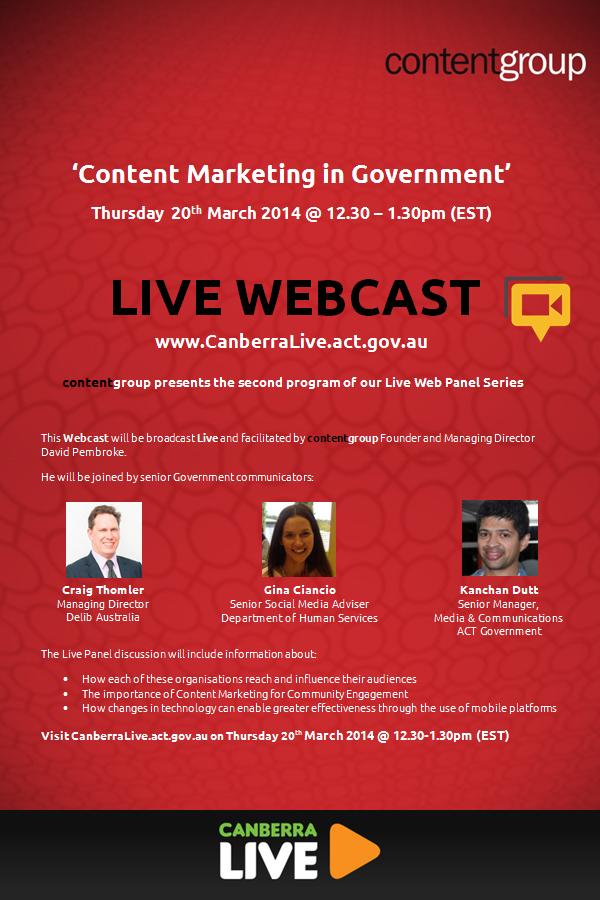Live Webcast poster