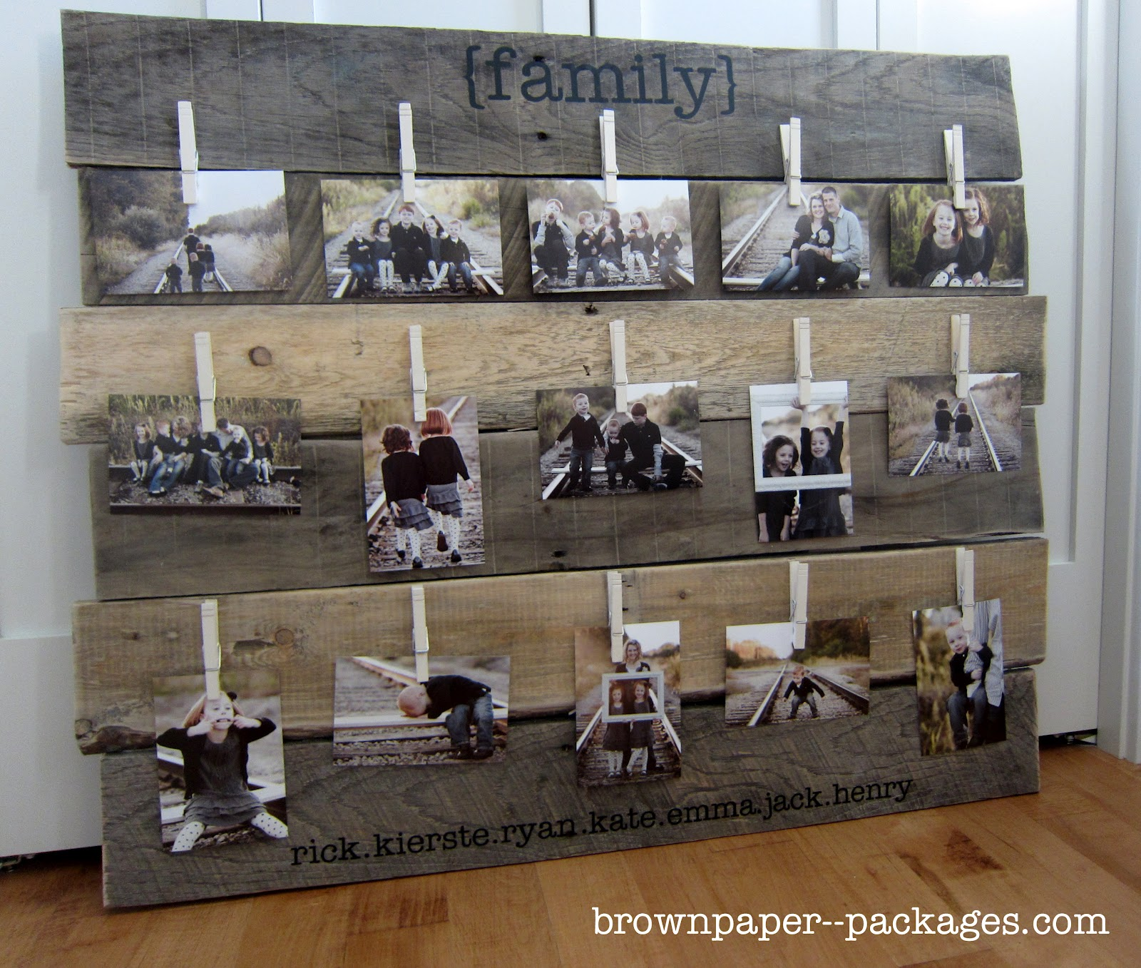 Pallet Brown Paper Packages Wood Pallet Photo Display