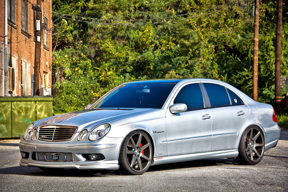 Mercedes benz w211 e55 amg vossen wheels benztuning for Mercedes benz wheel
