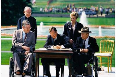 President Bush signing ADA