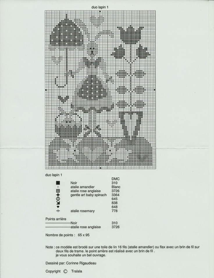 Tralala схемы вышивки 17
