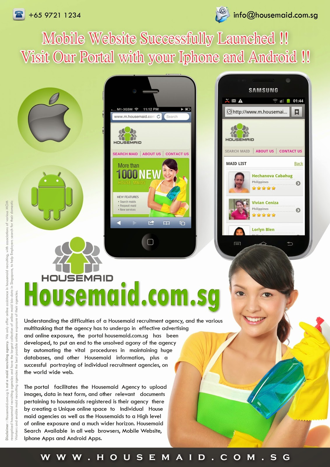 www.housemaid.com.sg  | All Maid Agency Singapore in One Place.
