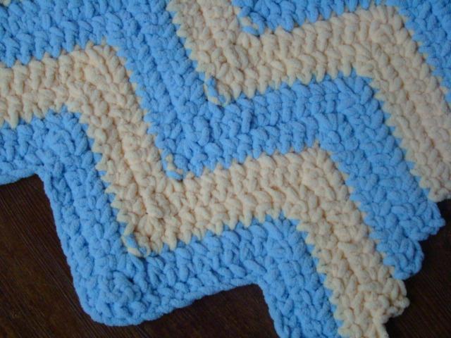 Crafts By Starlight: Crochet Fuzzy Striped Baby Blanket
