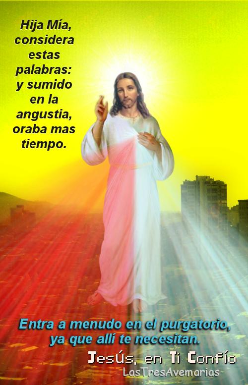 imagen con mensajes del Señor de la misericordia