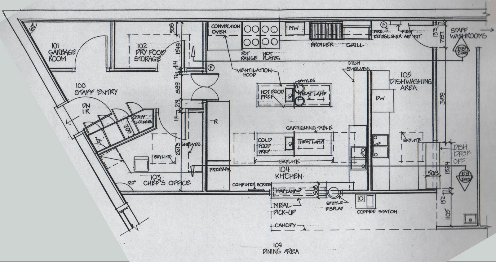 Restaurant kitchen blueprint afreakatheart for Kitchen design layout