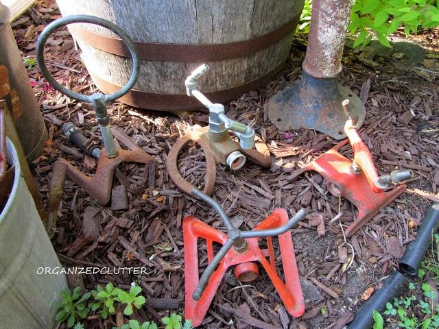 Junk Garden Lawn Tools www.organizedclutterqueen.blogspot.com
