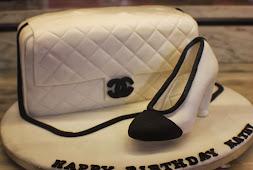 Bag & shoe cake