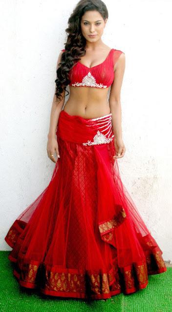 Veena malik hot photos in red dress
