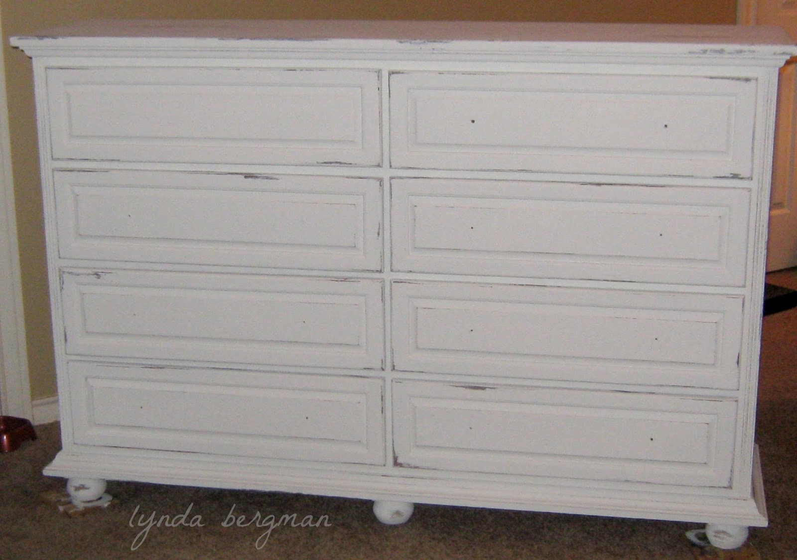 PAINTING WHITE U0026 DISTRESSING ASHLEYu0027S BEDROOM DRESSER