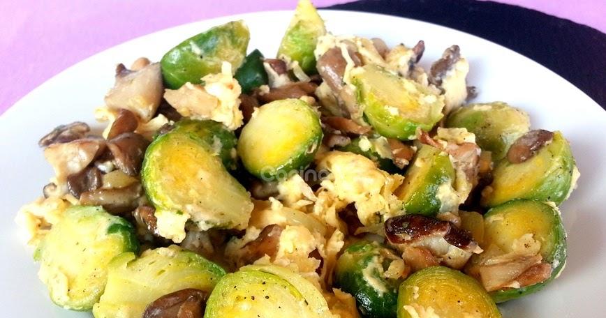 Cocinax2 las recetas de laurita revuelto de coles de - Cocer coles de bruselas ...