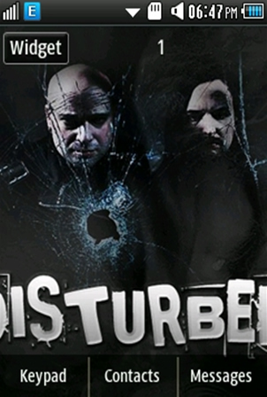 Other Disturbed Band Samsung Corby 2 Theme Wallpaper