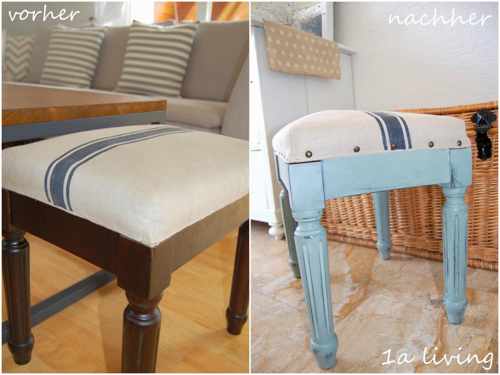 1a living chalk paint hocker makeover. Black Bedroom Furniture Sets. Home Design Ideas