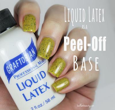 Liquid Latex as a Peel Off Base