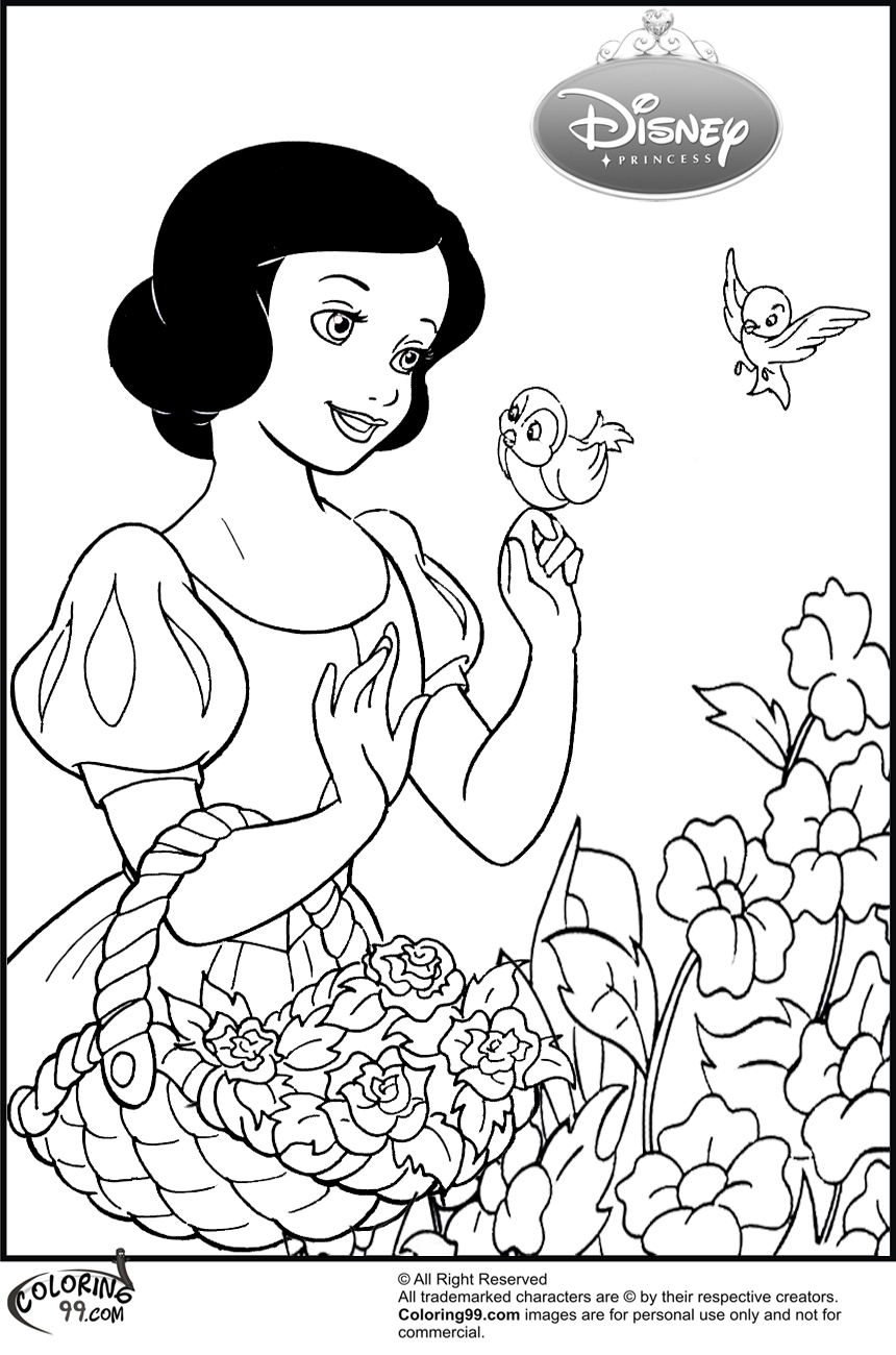 August 2013 team colors for Snow white coloring pages
