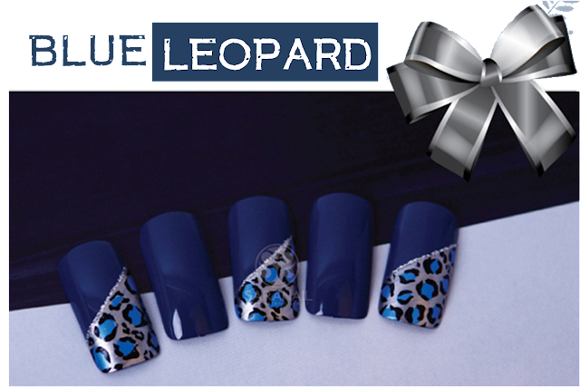 hollywood girl, blue leopard nail art!