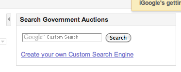 Government Auctions search box