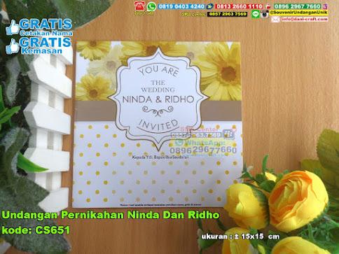 Undangan Pernikahan Ninda Dan Ridho