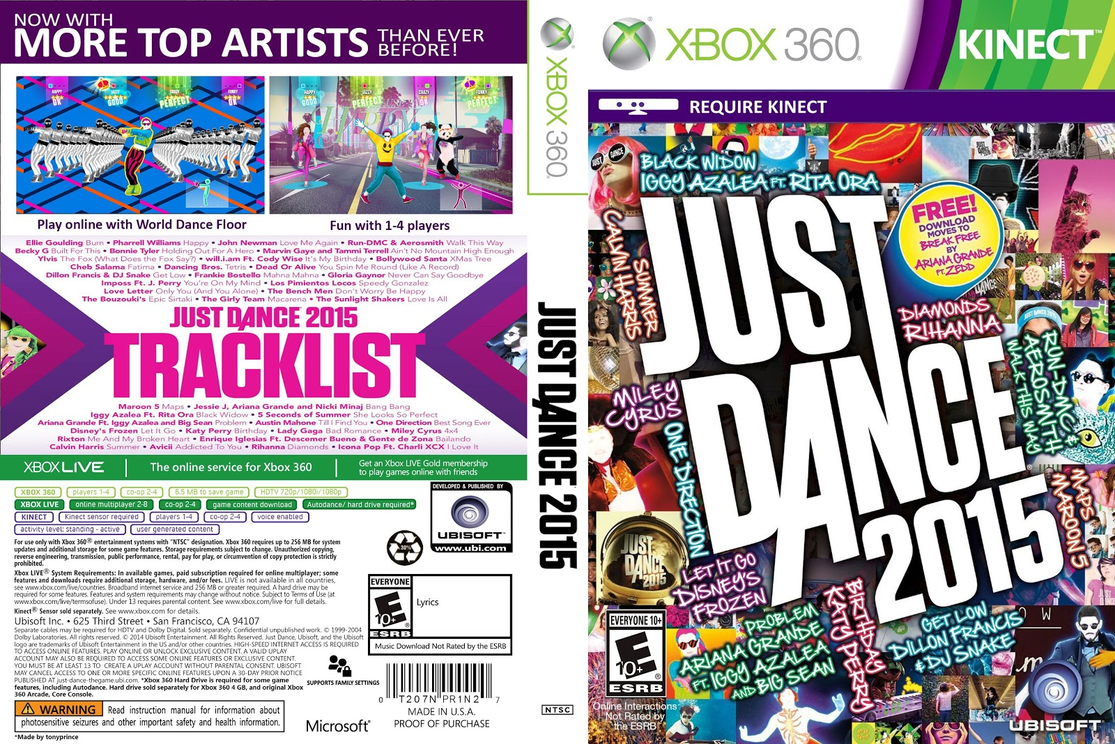 Capa Just Dance 2015 Xbox 360