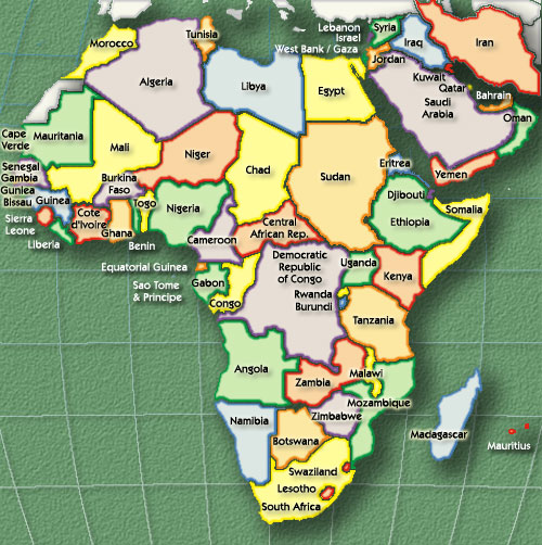 a map of africa and asia you can see a map of many places on the