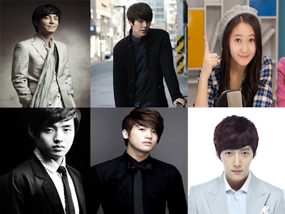 Top (left to right):Choi Won Young, Kim Woo-bin, Krystal Jung Bottom (left to right):Kang Ha-neul, Park Hyung-sik, Choi Jin-hyuk