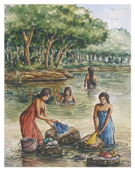 Indian Villages Life Paintings Pictures Cini Clips