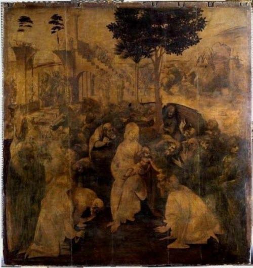 "Leonardo da Vinci, ""The Adoration of the Magi,"" 1481"