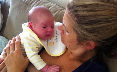 Mummy burping Freddie