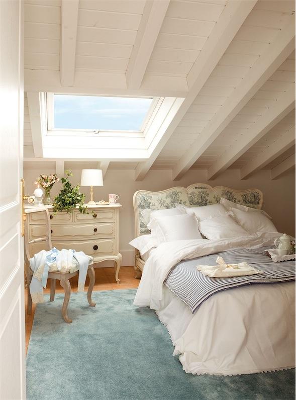 dormitorio con encanto toile de jouy
