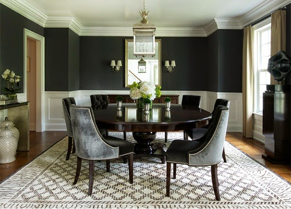 CAD INTERIORS design tips black paint above wainscot trim