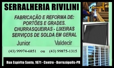 BORRAZÓPOLIS - Serralheria Rivelini