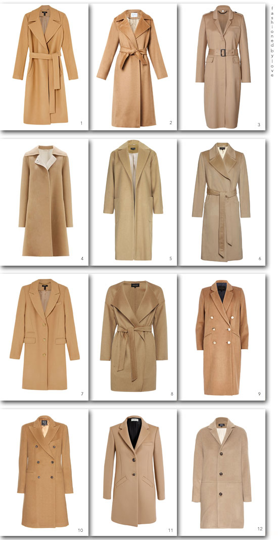 via fashionedbylove: camel coats for every budget, autumn/winter 2014 edition