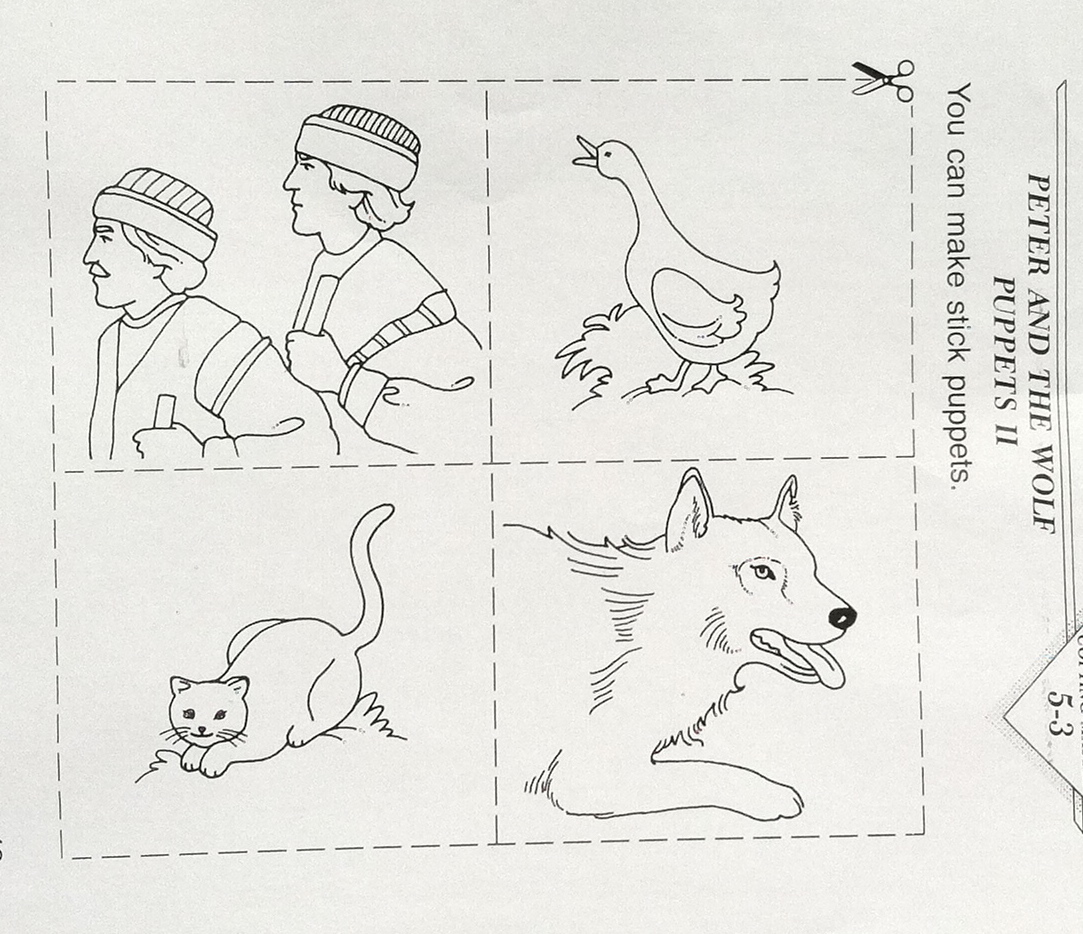 Avah Ham – Peter and the Wolf Worksheet
