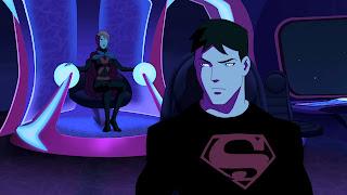 Superboy e Miss Marte juntos em Depths