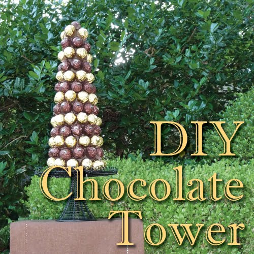 DIY Chocolate Tower Centerpieces
