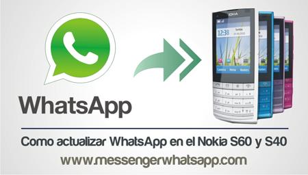 Como actualizar WhatsApp en el Nokia S60 y S40