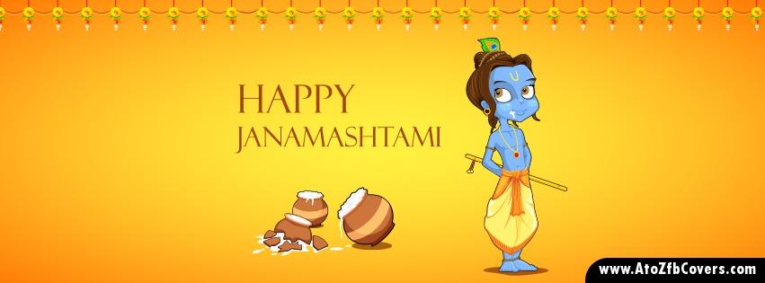 Happy Krishna Janmashtami facebook covers pics