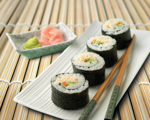 Food For Thought A Recipe Collection Chicken Sushi From Food In A