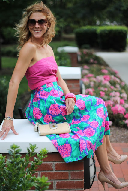 J. Crew, Steve Madden Pumps, CiGi Guz Skirt, Bakelite Bangles, summerbird, the Queen City Style